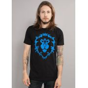 Camiseta Masculina World of Warcraft Aliança Símbolo