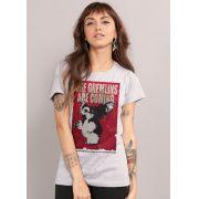 Camiseta Os Gremlins Estão Chegando Feminina
