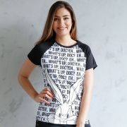 Camiseta Raglan Feminina Pernalonga What´s UP Doc?