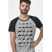 Camiseta Raglan Masculina Batman 80 Anos Logos Collection