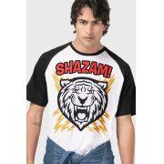 Camiseta Raglan Masculina Shazam Tiger