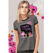 Camiseta Ringer Feminina Hello Kitty Little Witch