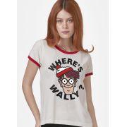 Camiseta Ringer Feminina Onde está o Wally?