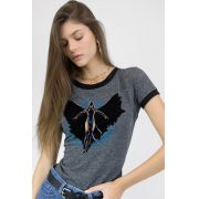 Camiseta Ringer Feminina Ravena