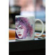 Caneca Wonder Woman Watercolor