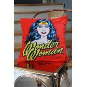 Capa para Almofada Dc Wonder Woman Face