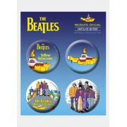 Cartela de Buttons The Beatles Yellow Submarine