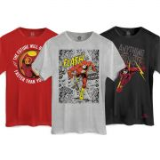 Combo 3 Camisetas DC Comics The Flash