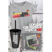 Combo Fresno CD Natureza Caos: Live + Camiseta Feminina + Copo
