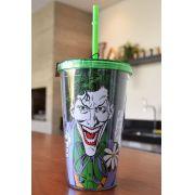 Copo com Tampa e Canudo The Joker Gun