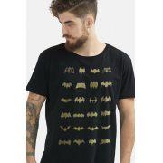 Kit 2 Camisetas Masculinas Batman Logos Collection + Batman Logo