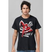 Kit 2 Camisetas Masculinas The Flash In Action + The Flash Logo