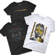 Kit com 3 Camisetas Femininas Luan Live-Móvel