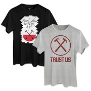Kit Show 2 Camisetas Roger Waters The Wall e Trust Us Masculino