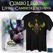 Pré-Venda Combo Camiseta + Livro World of Warcraft: Illidan