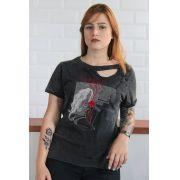 T-shirt Destroyed Feminina Pitty Pra pra Pensar