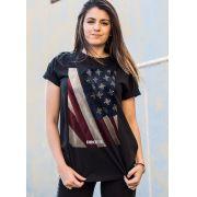 T-shirt Feminina Far Cry 5 Cult Flag Black