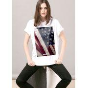 T-shirt Feminina Far Cry 5 Cult Flag White