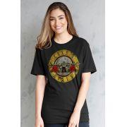 T-Shirt Feminina Guns N' Roses Bullet