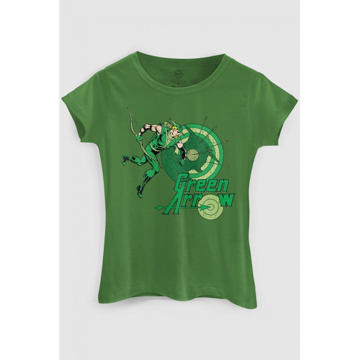 Camiseta Feminina Arqueiro Verde Flechas  - bandUP Store Marketplace