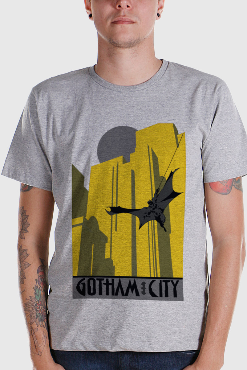 Camiseta Masculina Batman In Gotham City 2  - bandUP Store Marketplace