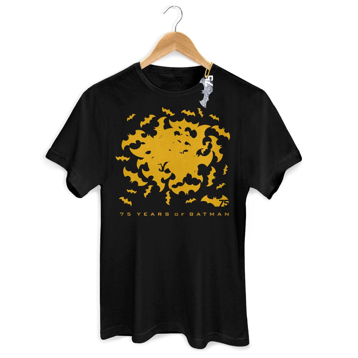 Camiseta Masculina Batman 75 Anos Bats  - bandUP Store Marketplace