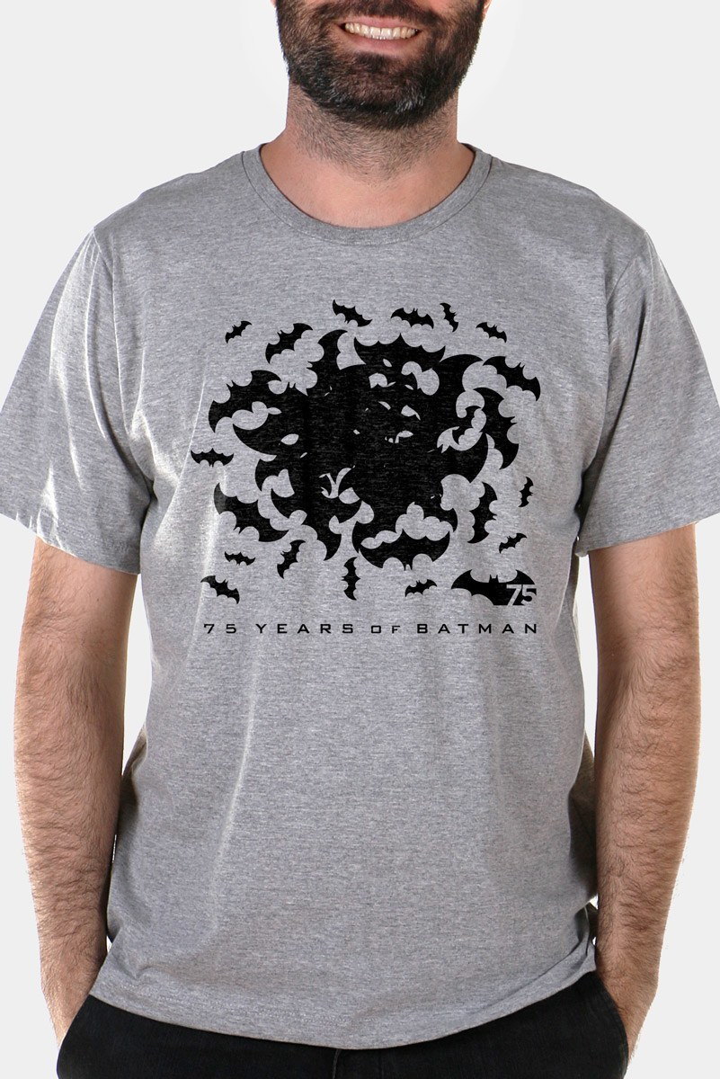 Camiseta Masculina Batman 75 Anos Bats 2  - bandUP Store Marketplace
