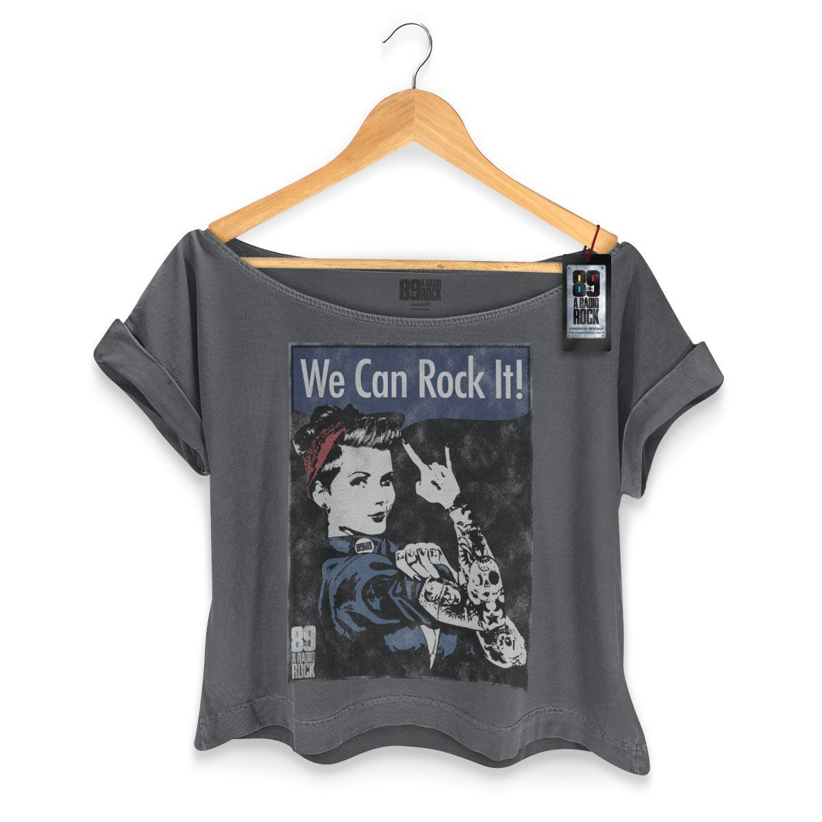 T-shirt Premium Feminina 89FM We Can Rock It!  - bandUP Store Marketplace