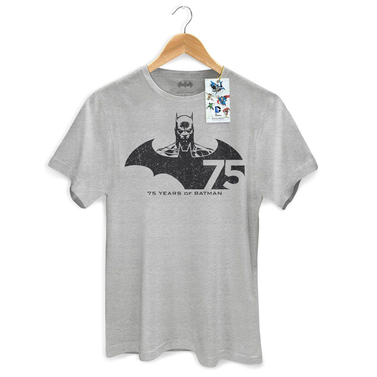 Camiseta Masculina Batman 75 Anos Tracing  - bandUP Store Marketplace