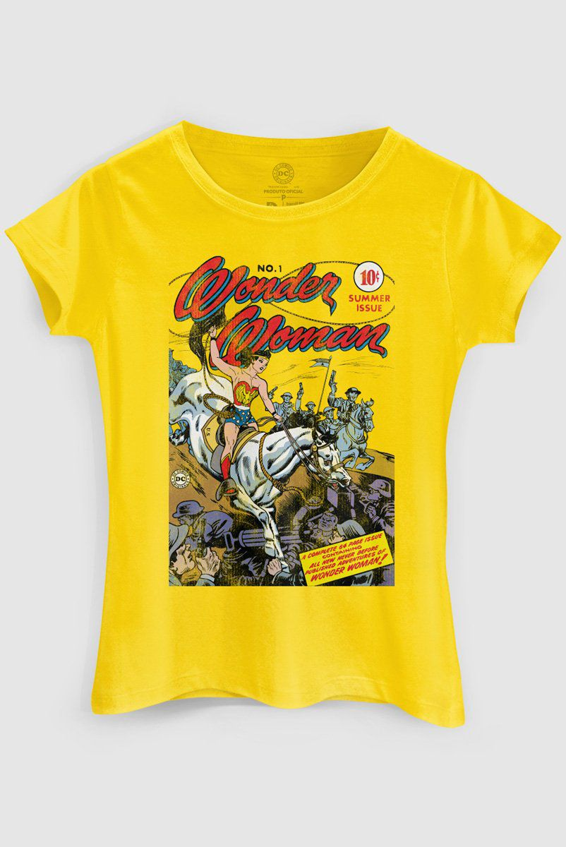 Camiseta Feminina Wonder Woman HQ Nº1  - bandUP Store Marketplace