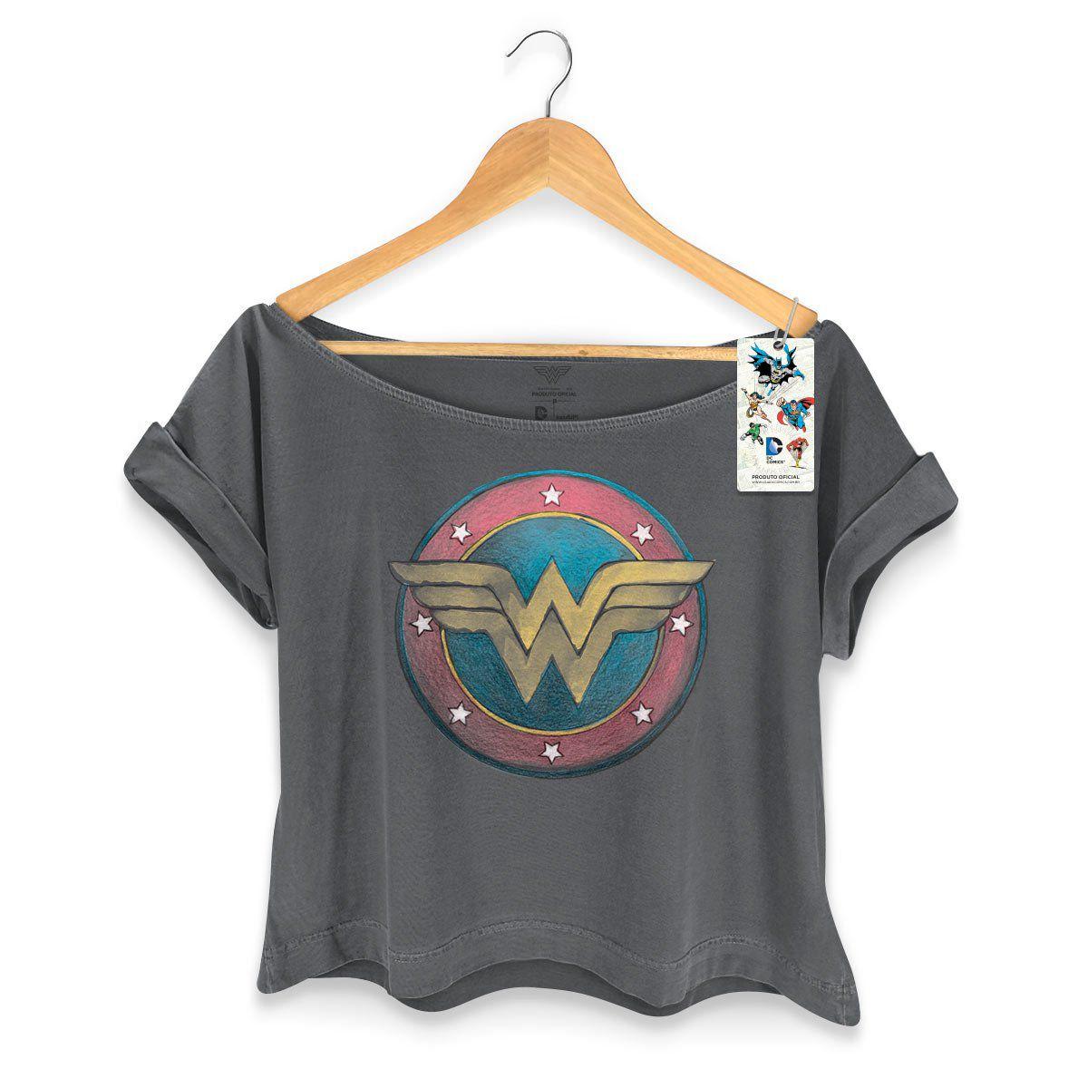 T-shirt Premium Feminina Wonder Woman Classic Logo  - bandUP Store Marketplace