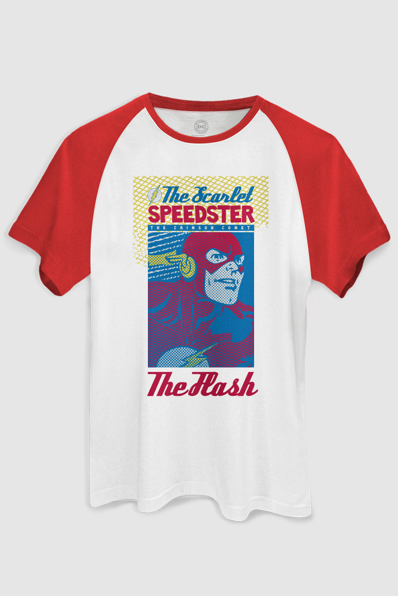 Camiseta Raglan Masculina The Flash Scarlet Speedster  - bandUP Store Marketplace