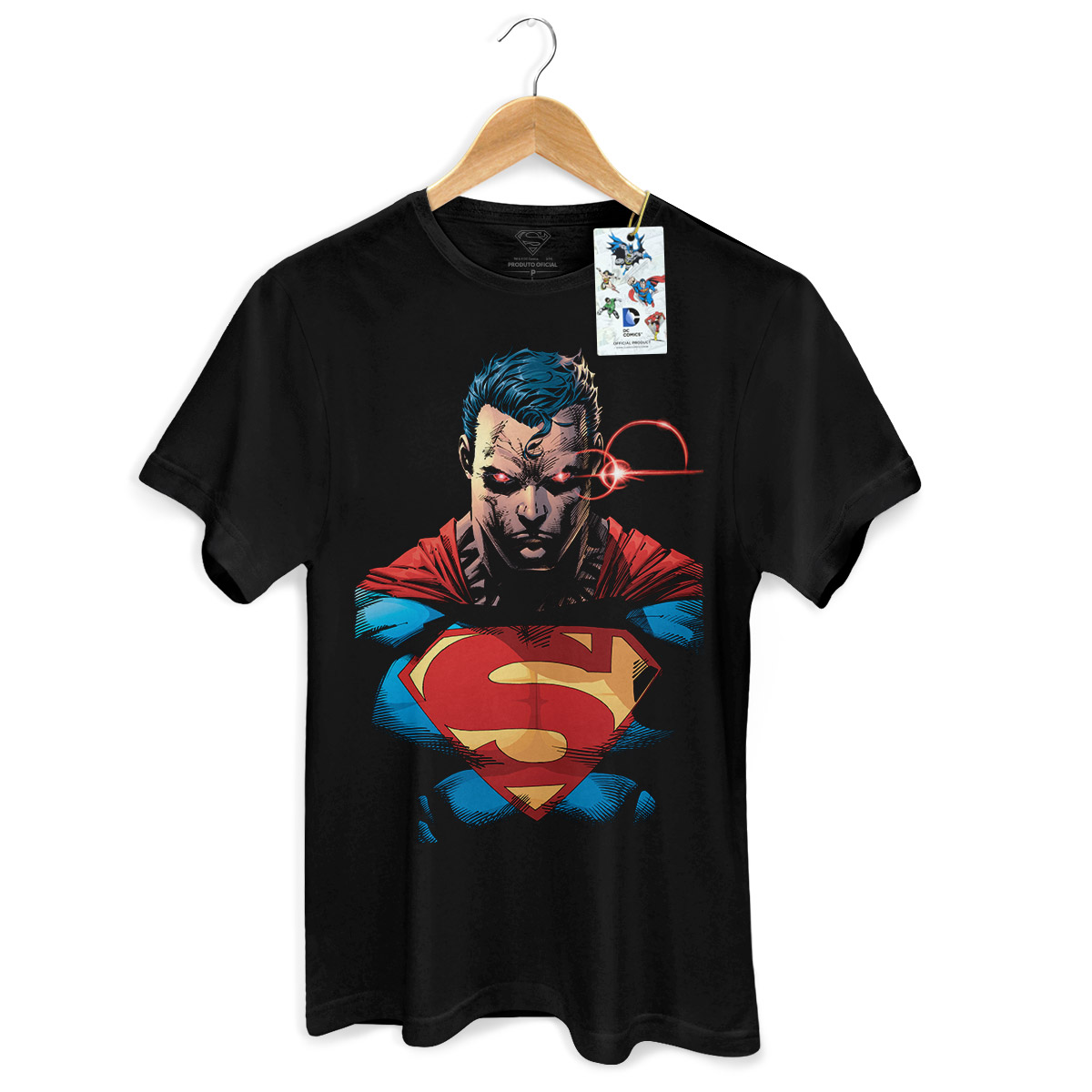 Camiseta Masculina Superman X-Ray Vision Colors  - bandUP Store Marketplace