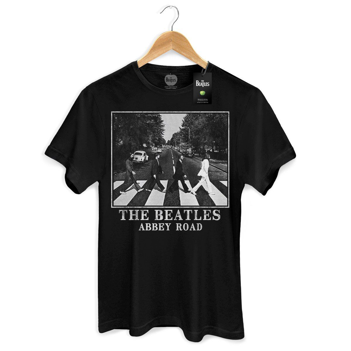 Camiseta Unissex The Beatles Abbey Road Black  - bandUP Store Marketplace