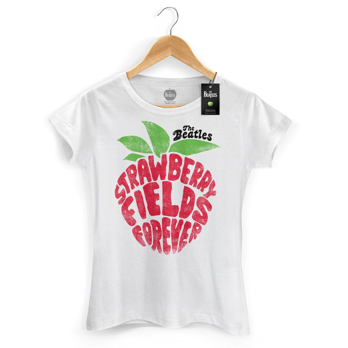 Camiseta Feminina The Beatles Strawberry Fields Forever  - bandUP Store Marketplace
