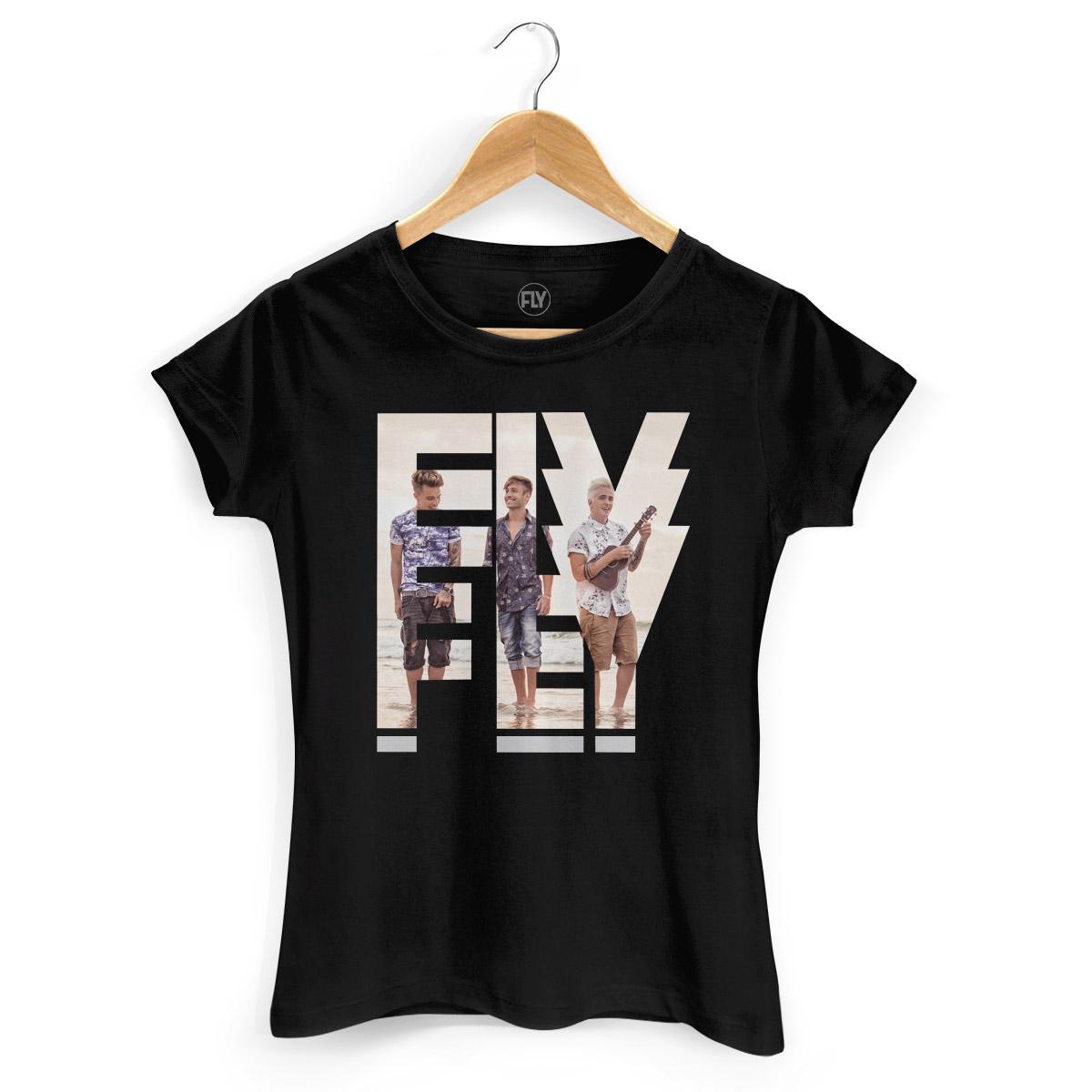 Camiseta Feminina Banda Fly Logo Foto  - bandUP Store Marketplace