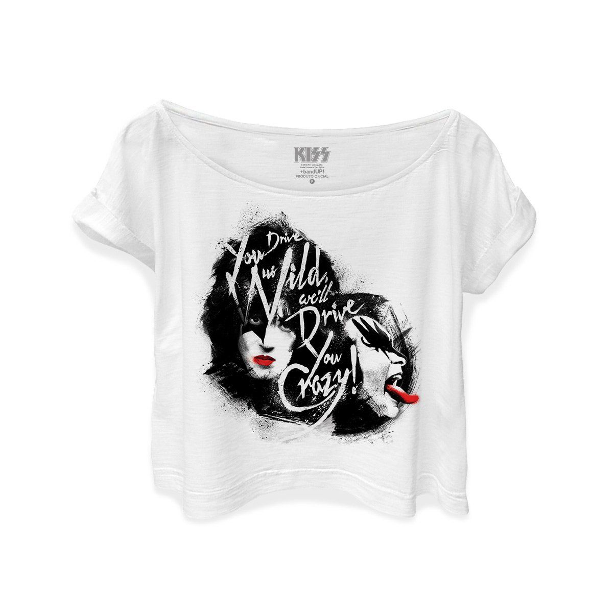 T-shirt Premium Feminina Kiss Dressed To Kill  - bandUP Store Marketplace