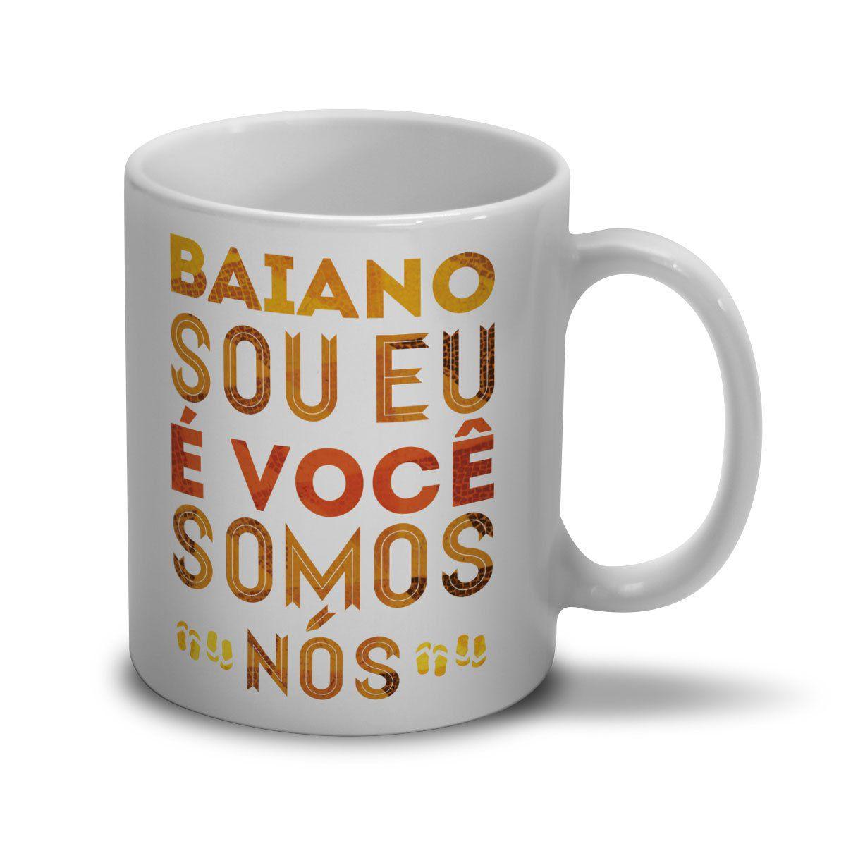 Caneca Saulo Baiano Sou Eu, É Você, Somos Nós  - bandUP Store Marketplace