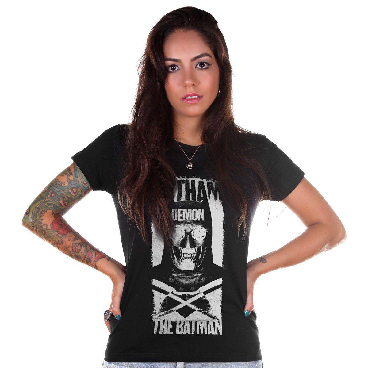 Camiseta Feminina Batman VS Superman Gotham Demon  - bandUP Store Marketplace