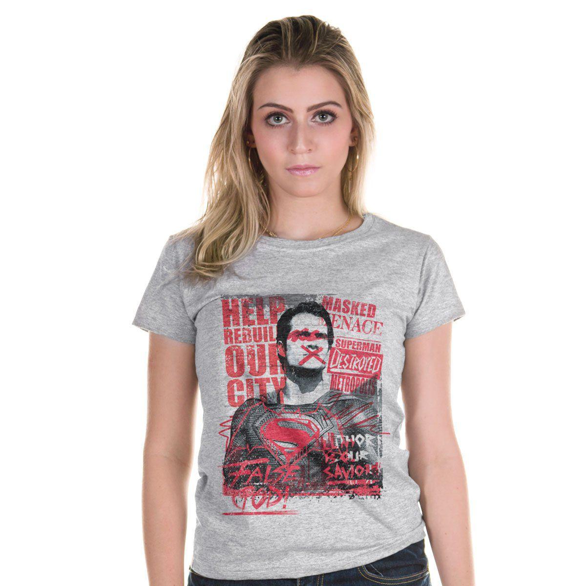 Camiseta Feminina Batman VS Superman False God  - bandUP Store Marketplace