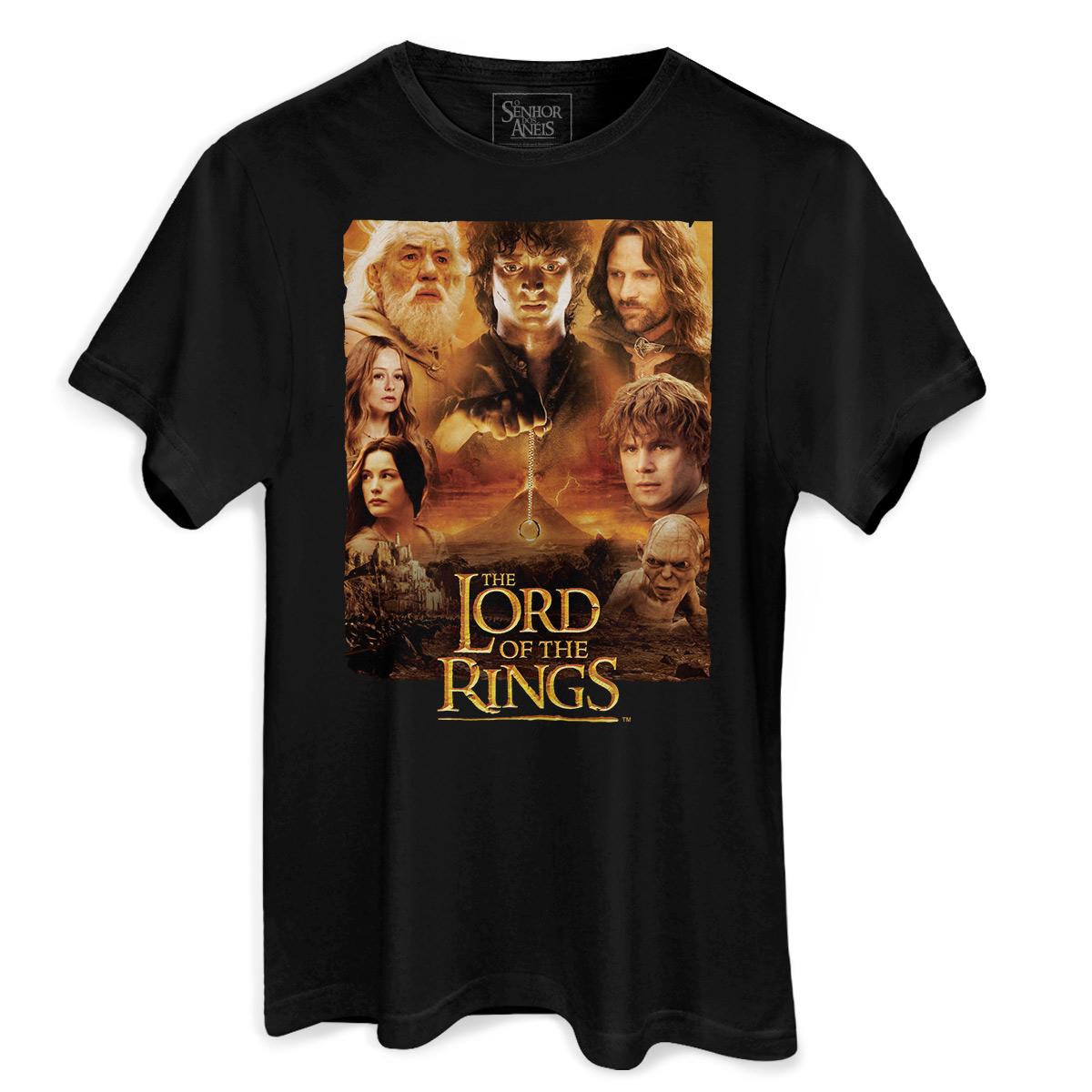 Camiseta Masculina O Senhor dos Anéis Logo  - bandUP Store Marketplace