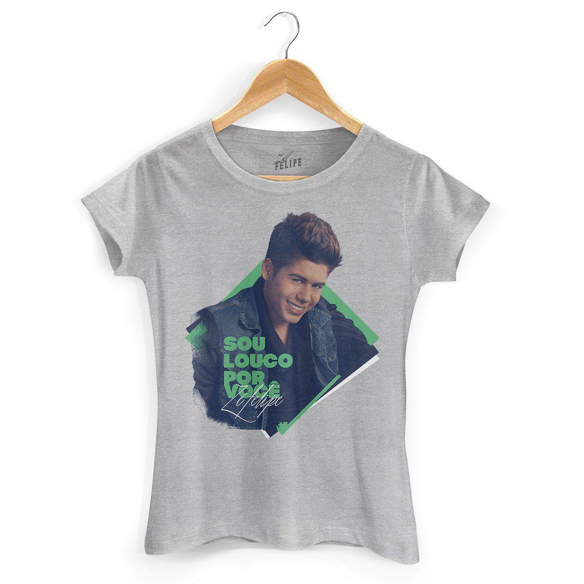 Camiseta Feminina Zé Felipe Louco Por Você Foto  - bandUP Store Marketplace
