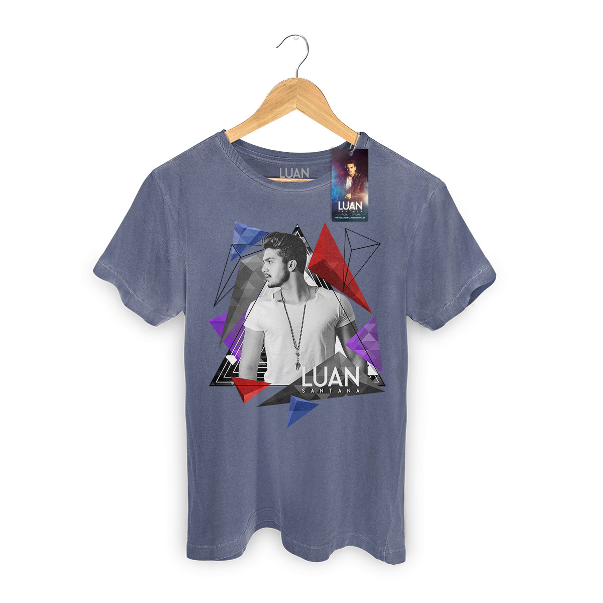 T-shirt Premium Masculina Luan Santana Triangle  - bandUP Store Marketplace