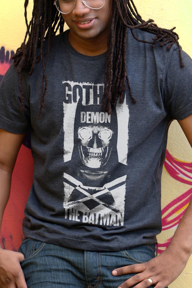 T-shirt Premium Masculina Batman VS Superman Gotham Demon  - bandUP Store Marketplace