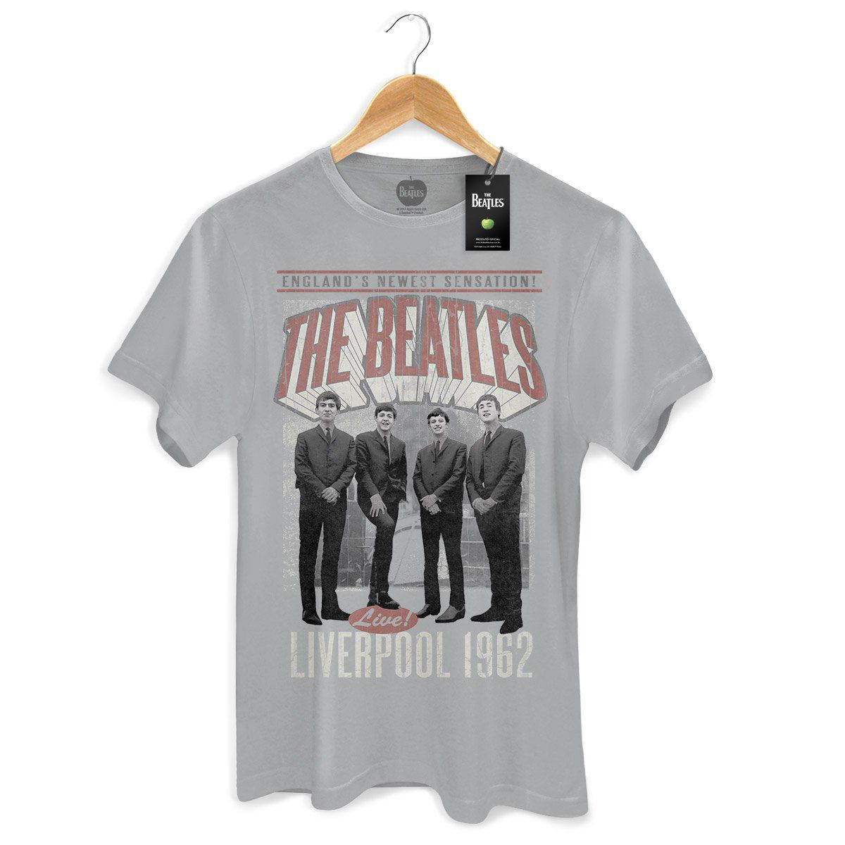 Camiseta Unissex The Beatles Liverpool 1962  - bandUP Store Marketplace