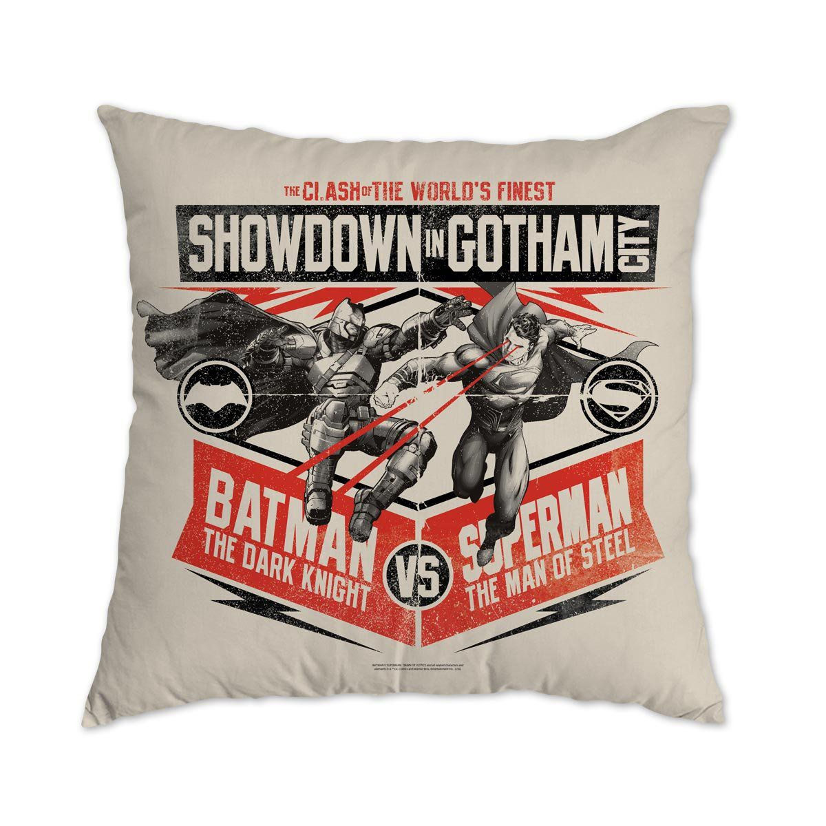 Almofada Batman VS Superman Showdown In Gotham City  - bandUP Store Marketplace