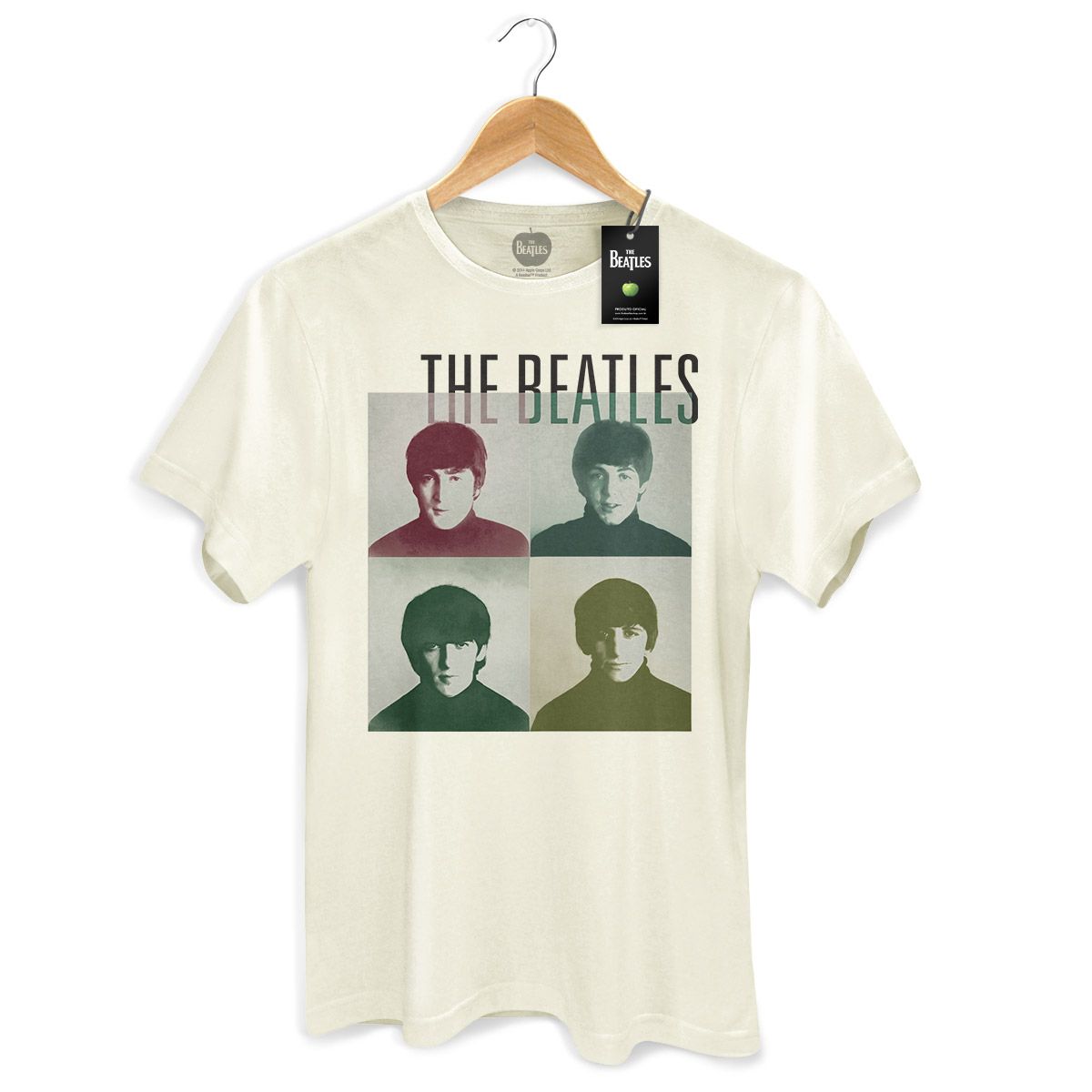 Camiseta Unissex The Beatles Four Square  - bandUP Store Marketplace