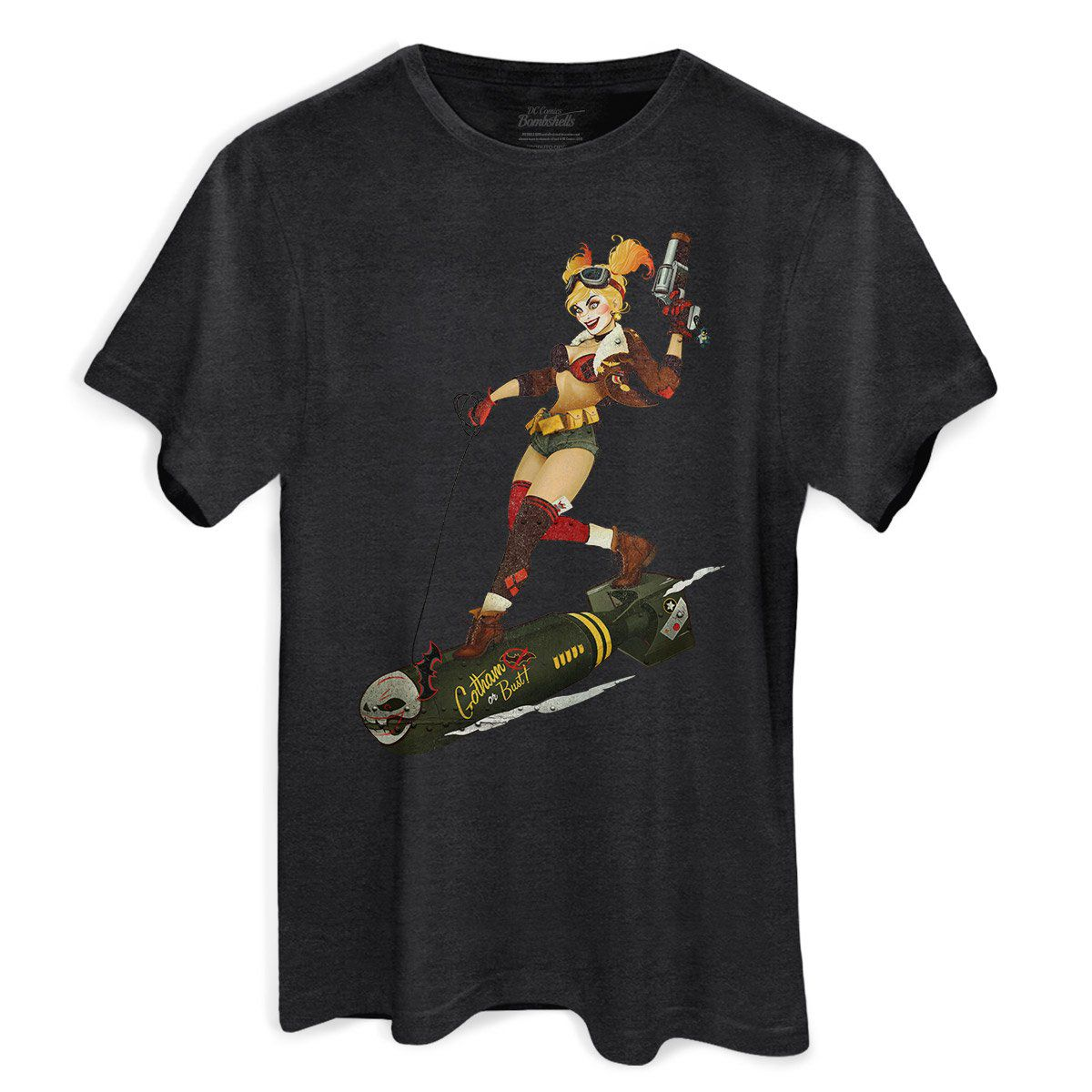 T-shirt Premium Masculina Harley Quinn Gotham or Bust!  - bandUP Store Marketplace