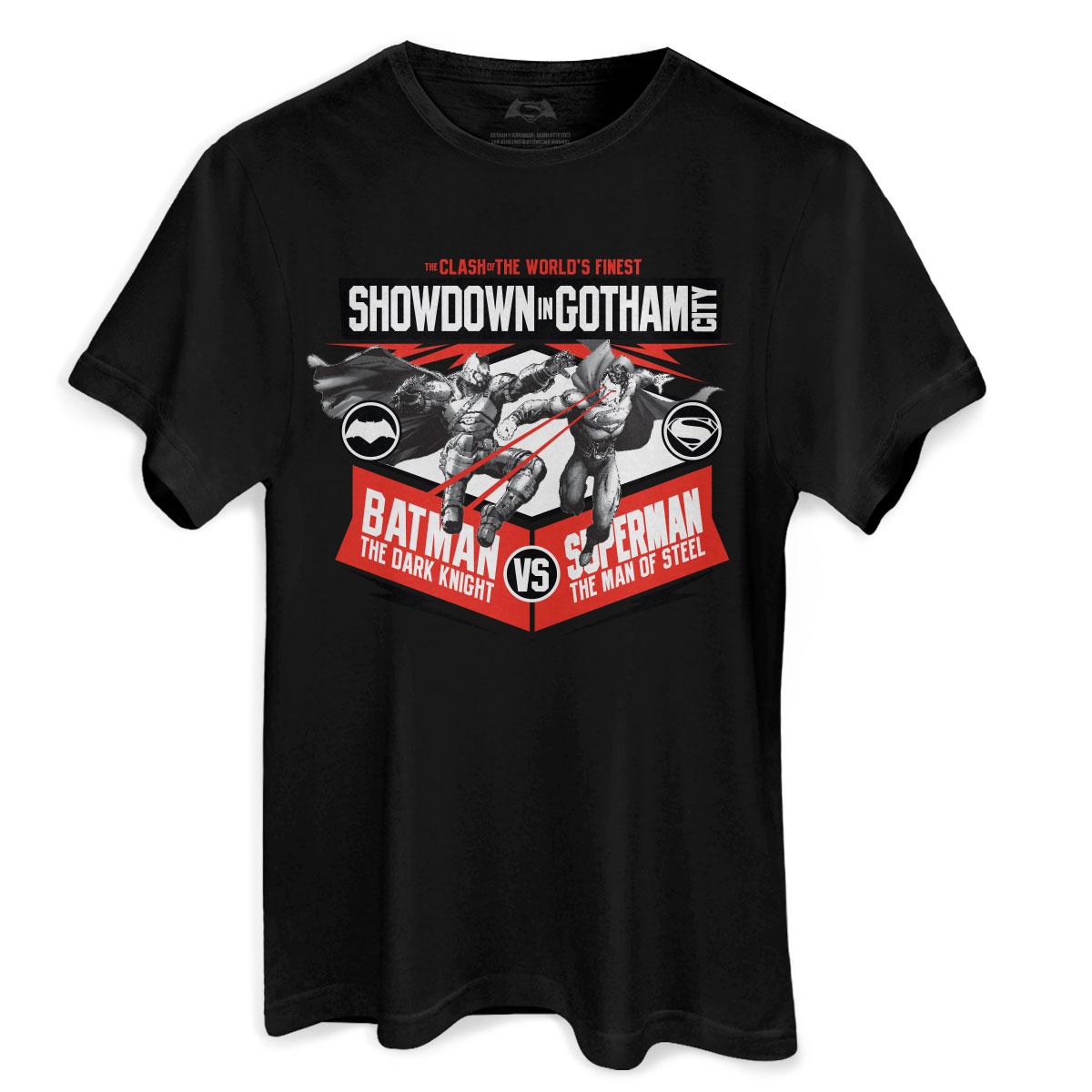 Camiseta Masculina Batman VS Superman Showdown In Gotham City  - bandUP Store Marketplace