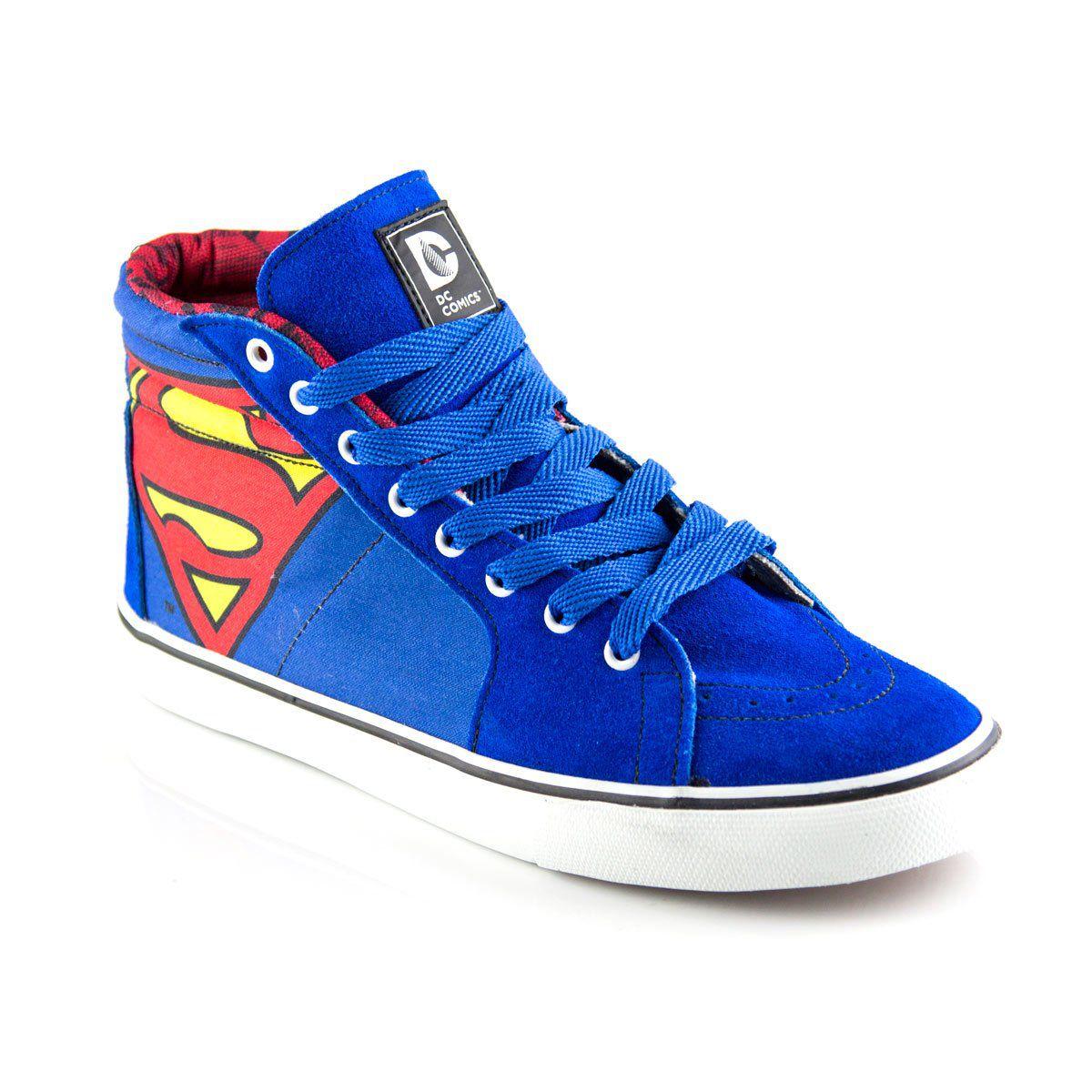 Tênis Cano Alto DC Comics Superman  - bandUP Store Marketplace